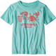 Patagonia Live Simply Organic t-shirt Kinderen turquoise